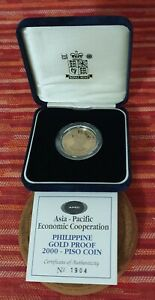 Philippine Coin Gold 1996 Fidel Ramos APEC P2000 Proof