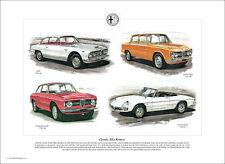 CLASSIC ALFA ROMEO  Fine Art Print - 2600 Duetto Spider Giulia Sprint GT & Super