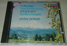 COPLAND-APPALACHIAN/STRAVINSKY-APOLLON-FULL SILVER RING CD 1986-DORATI-RARE-MINT