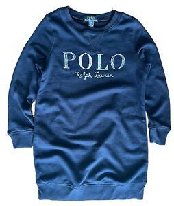 Girls Ex Ralph Lauren Girls A/W 21 knee length sweatshirt tunic dress med 10 12