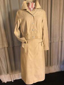 vintage 70's cream beige  linen cotton jacket safari summer spring skirt suit