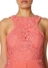 £220 Forever Unique Creek Coral Lace Applique Doll House Midi Pencil Dress 12
