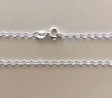 "Sterling Silver Belcher Rolo Chain Necklace 50cm 20"" 2.3mm Genuine 925 Rollo NEW"