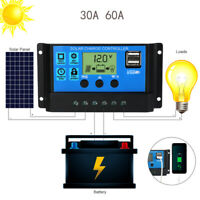 60A 12V/24V Auto Focus Tracking MPPT Solar Panel Regulator Charge Controller