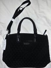 Vera Bradley Casual Satchel Classic Black Microfiber Purse Handbag