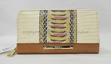 NWT! Brahmin Suri Zip Around Wallet in Yellow Canyon. Embossed Leather.
