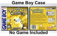 Pokemon Yellow Version - Game Boy GB Case - *NO GAME*
