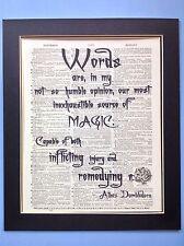 Harry Potter Silente parole sono nella mia magia IDEA REGALO DIZIONARIO ANTIQUARIATO ARTE