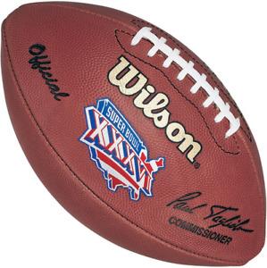 SUPER BOWL XXXVI 36 Authentic Wilson NFL Game Football - NEW ENGLAND PATRIOTS