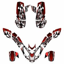 Polaris Predator 500 graphics racing decal sticker kit NO2500 Red