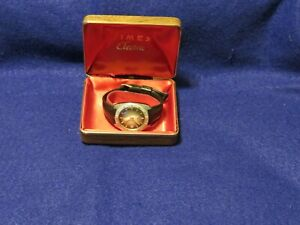 Vintage 1970,S Timex Electric Dyabeat Calendar Date Watch Original Box
