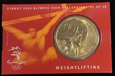 2000 $5 Australia Sydney Olympic Collection Proof-Like Coin Weightlifting #21/28