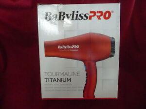 Babyliss Pro TT Tourmaline Titanium 3000 Dryer, Red
