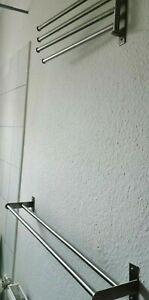 Edelstahl Handtuchhalter, 2 x Ikea Brogrund + Glasablage, gebraucht