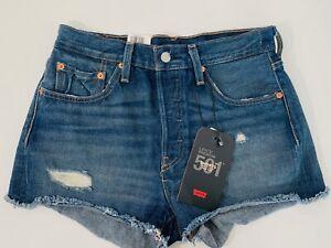 Las Mejores Ofertas En Pantalones Cortos De Plata Levi S Para Mujeres Ebay