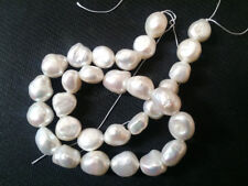 "12-15mm Real White South Sea Cultured Pearl Baroque Pearl Loose Beads 15""  AAA+"
