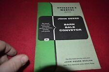 John Deere Barn Bale Conveyor Operator's Manual Bwpa