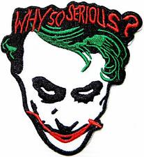 Psychobilly Joker Clown Card Poker Casino Horror Iron on Embroidered Patch