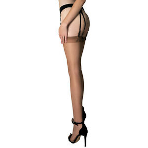 Fiore Justine 20 Stockings | Sheer Classic Garter Style Thigh High | Plus Sizes