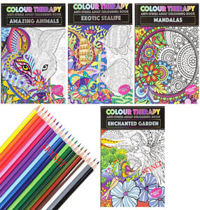 NEW EDITION A4 ANTI-STRESS ADULT COLOURING BOOK BOOKS RELAX Therapy FOR ADULTS