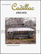 1959-1976 Cadillac Parts Interchange Casting Numbers Guide Engine Suspension etc