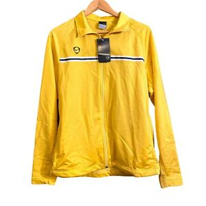 Vintage Men's Nike Football Logo Soccer Jacket Yellow Size Medium 2005 NWT