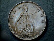 George V 1933 Bronze Farthing, grade fine.