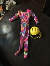 Barbie doll Fashion Roller Blading jumpsuit and helmet