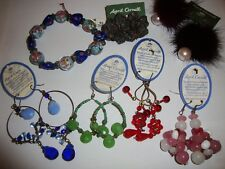 NEW April Cornell Bracelet Earrings SET Cute Shabby Rare Chic Gorgeous Vintage