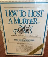 How To Host A Murder Adult Mystery Dinner Party Game The Chicago Caper New NIB