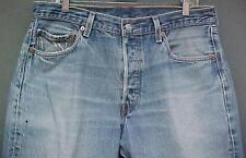 Rockstar 501 Levis Hige Denim Blue Buttonfly Men's Tag Size 36x30