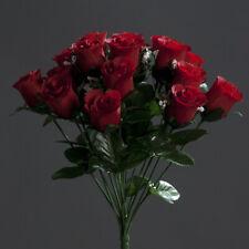 Kunstblumen Rosenstrauß  36cm  rot   Seidenblumen  Rosen  künstlicher Strauße