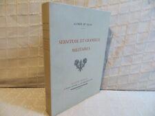Servitude et grandeur militaires Alfred de Vigny Piazza éditeur hors commerce