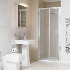 Atlas 800 Bi-fold Shower Door Clean Plus Chrome Bathstore   RRP: £499