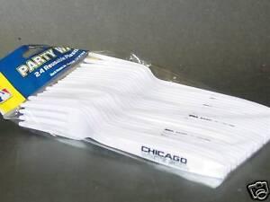 MLB Disposable Plastic Forks (24) Chicago White Sox, NEW