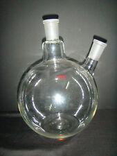 5000ml,24/40,2-neck,Flat Bottom,Flask,5L,Twins Necks,Lab Chemistry bottle