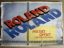 Manuale d'uso vintage macchina tipografica OFFSET Roland 1-2 color anni 50 TR.27