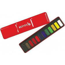10 Sets x Reeves 12 Watercolours in a Red Metal Tins (Ideal for Classroom)