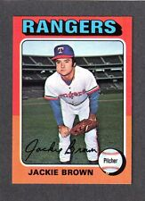 1975 Topps Large #316 Jackie Brown Texas Rangers Ex-Mint +
