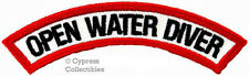 OPEN WATER DIVER CHEVRON - SCUBA DIVING iron-on PATCH embroidered applique
