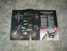 1975 1976  HARLEY  DAVIDSON SX-175 Enduro Cycle Ad 2 pg Original SX175