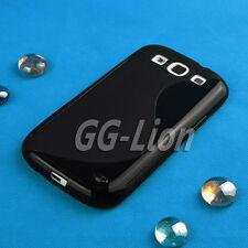 bl,TPU Rubber Silicone Case Skin Cover for Samsung Galaxy S3 S III i9305 4G Lte
