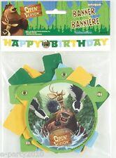 OPEN SEASON HAPPY BIRTHDAY BANNER ~ Party Room Decorations Supplies Boog Elliot