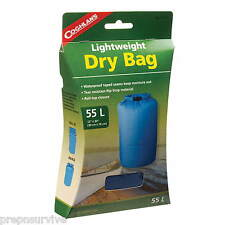 55L LIGHTWEIGHT DRY BAG WATERPROOF SEAMS,RIP STOP ROLL-TOP CLOSURE BLUE #2
