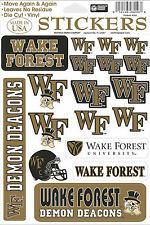 Wake Forest Demon Deacons Vinyl Die-Cut Stickers