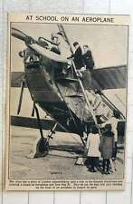 1923 London School Enjoying Visit To Croydon Aerodrome Climbing Into Aeroplane