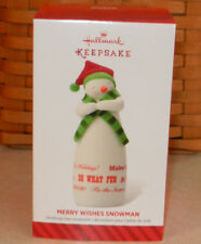 Hallmark 2014 Keepsake Ornament ~ Merry Wishes Snowman ~ Limited Edition New