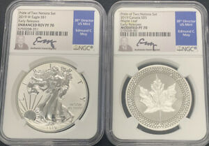 2019 PRIDE OF TWO NATIONS SET NGC PF70 EARLY RELEASE ED MOY SIGNED