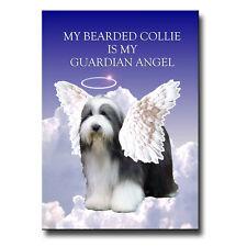 Bearded Collie Guardian Angel Fridge Magnet New Beardie Pet Loss