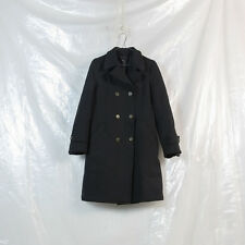 ROBE DE CHAMBRE COMME DES GARCONS black boiled polyester double breasted coat M